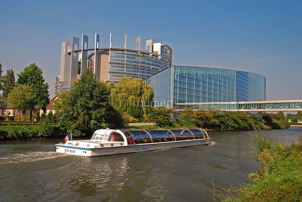 Strasbourg - a view from the European Parliament by roumen