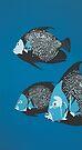 Angelfish DEEP BLUE SEA by Mirjam Griffioen