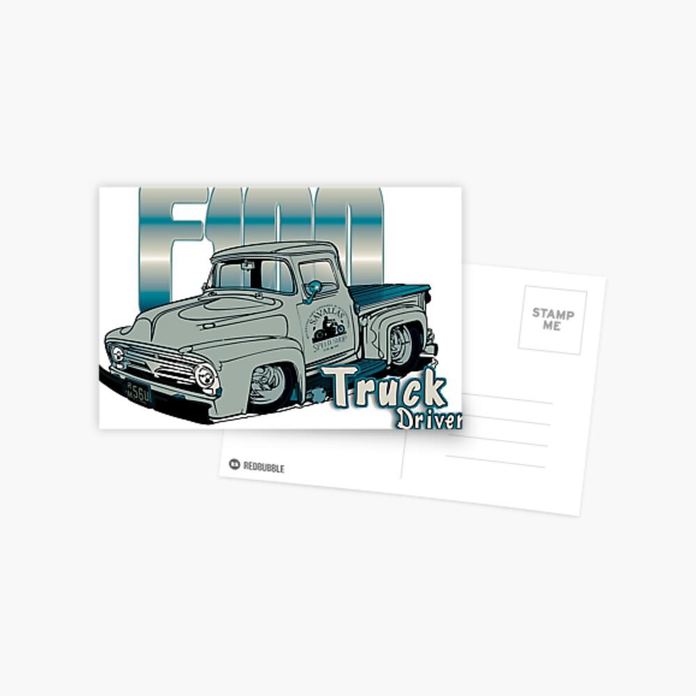 Ford F100 Truck Driver 1953 - 1956 Postkarte