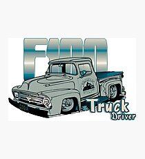 Ford F100 Truck Driver 1953 - 1956 Fotodruck