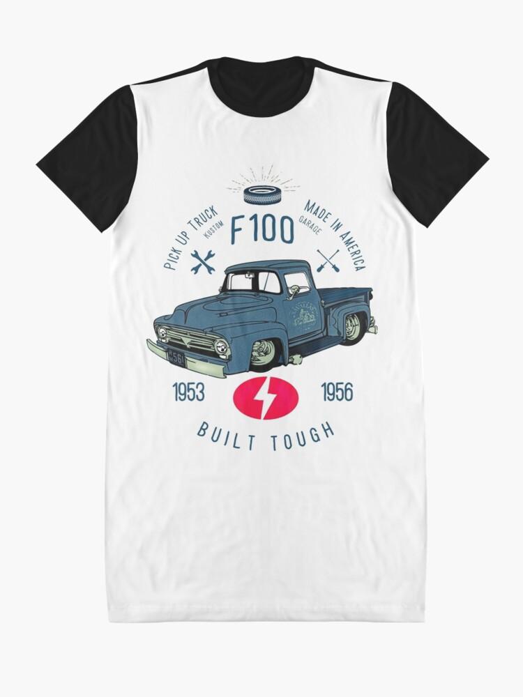Alternative Ansicht von Ford F100 Truck Built Tough T-Shirt Kleid