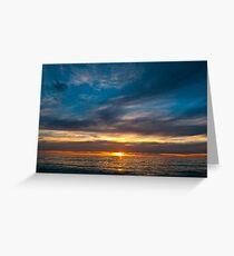 Brighton Sunset Greeting Card
