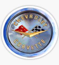 Classic Chrome Corvette Emblem Sticker