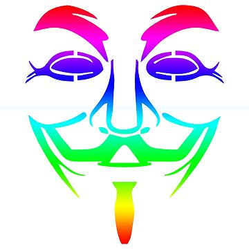Anonymous Mask Rainbow Multi Colored  by ThatMerchStore