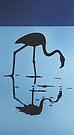 Flamingo 2 DEEP BLUE SEA by Mirjam Griffioen