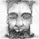 """Stern man.     Member of  """"12 Men""""                2Darts by Ian Farnbach"""