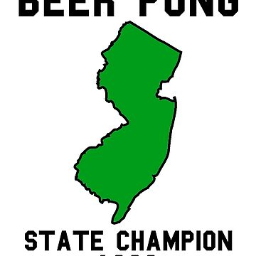 Vintage New Jersey Beer Pong State Champion 1999 by fearcity