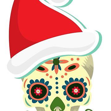 Sugar skull Christmas - Xmas by ViVedX