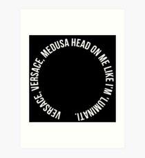 Versace head Art Print