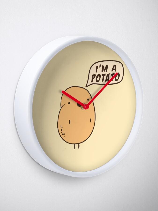 Alternative Ansicht von Ich bin eine Kartoffel Uhr