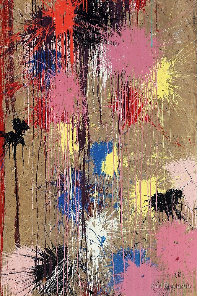 Colorful paintball splatter by Karl R. Martin
