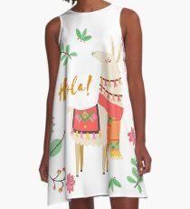 SASSY ALPACA A-Linien Kleid