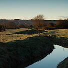 Durleigh Brook Sunrise by kernuak