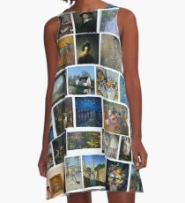 Most Famous Paintings #Most #Famous #Paintings #FamousPaintings VanGogh StarryNight VincentVanGogh A-Line Dress