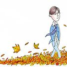 Walking Through Leaves by Andrew  Hitchen