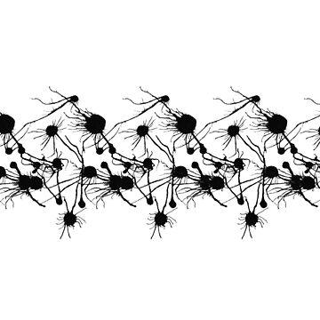 Inkblot Arachnids by ColdBloodedKid