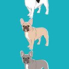 Three French Bulldogs by grumpyteds