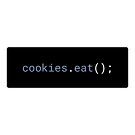 JavaScript - Eat Cookies (with background) by developer-gifts