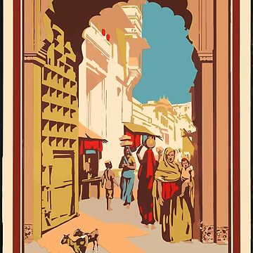 Vintage Travel Poster India by G-Design