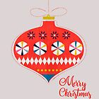 Red christmas retro bauble by ShowMeMars