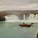 Godafoss-Wasserfall, Island von Mark Bangert