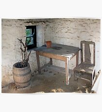 Thatched cottage kitchen Poster
