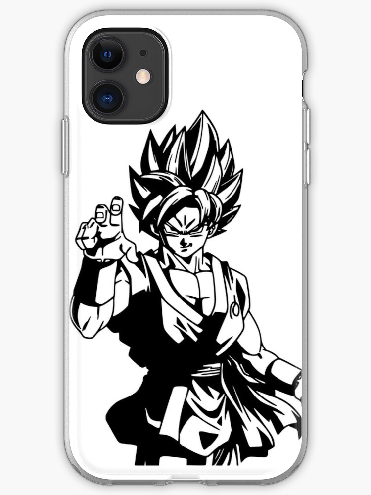 Goku Black And White Fan Art More Than 50 Products For Sale Iphone Case By D34thdesing