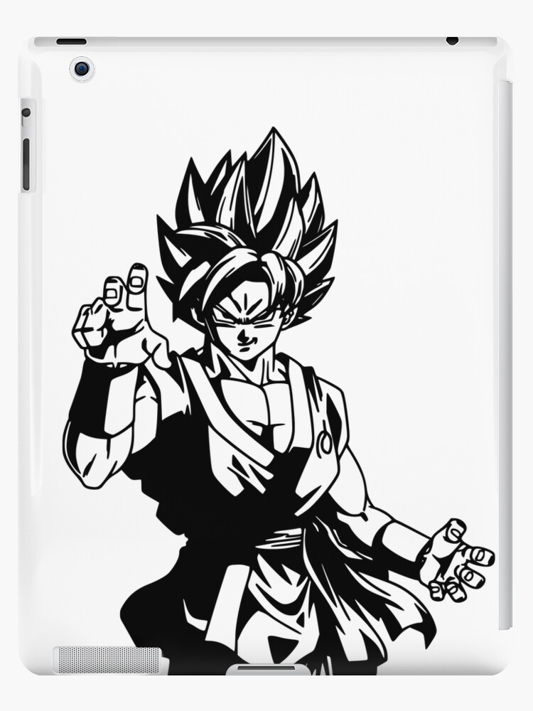 Goku Black And White Fan Art More Than 50 Products For Sale Ipad Caseskin By D34thdesing