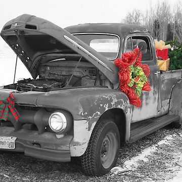 Antique Truck Decorated for Christmas by rhamm