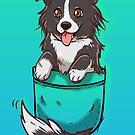 Pocket Cute Border Collie Dog by TechraNova