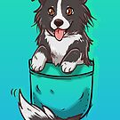 Pocket Cute Border Collie Dog by TechraNova