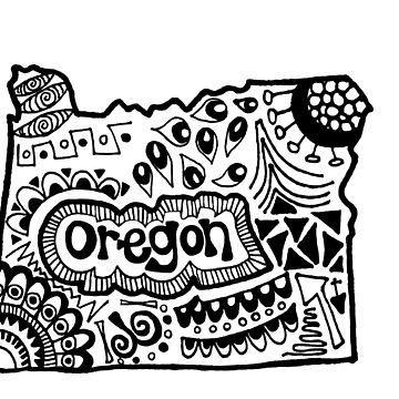 Oregon Zentangle by alexavec