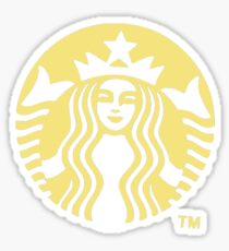 Pastel Yellow Starbucks Sticker