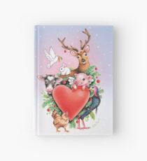 Xmas heart by Maria Tiqwah Hardcover Journal