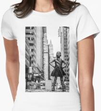 Fearless Girl  New York City Women's Fitted T-Shirt