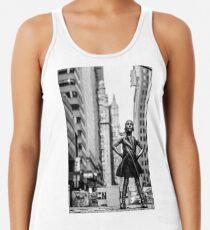 Camiseta de tirantes para mujer Chica sin miedo de la ciudad de Nueva York