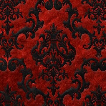 Red Velvet Damask by NobleImages