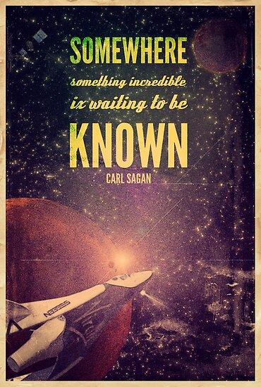 Weltraumforschung (Carl Sagan-Zitat) von taudalpoi