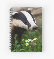 Badger Portrait Spiral Notebook