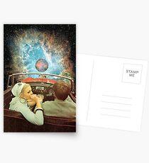 WELTRAUMAUSFLUG. Postkarten