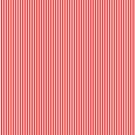 Thin Berry Red and White Rustic Vertical Sailor Stripes by honorandobey