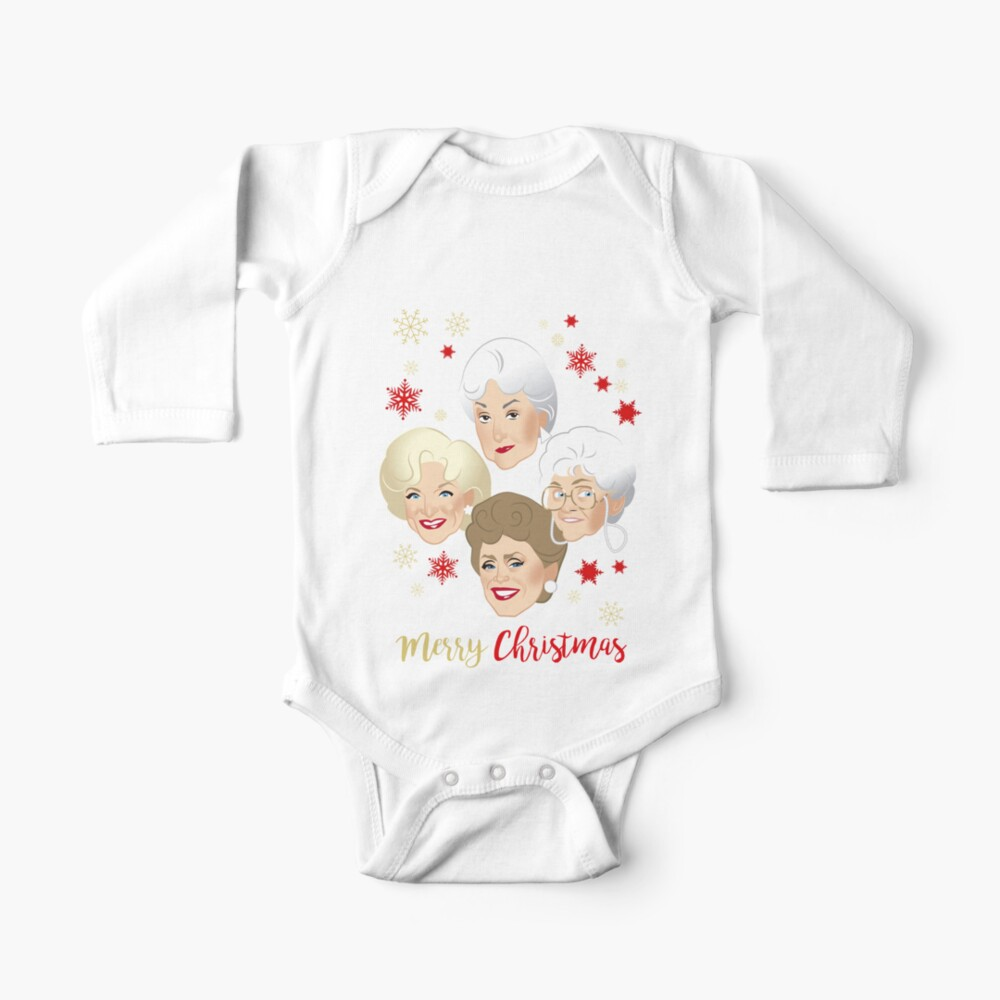 Golden Christmas Baby One-Piece
