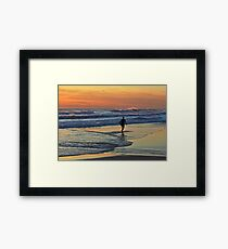 Would one day be eternity ...I would spend it out at sea ... Framed Print