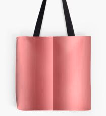Mini Berry Red and White Rustic Vertical Pin Stripes Tote Bag