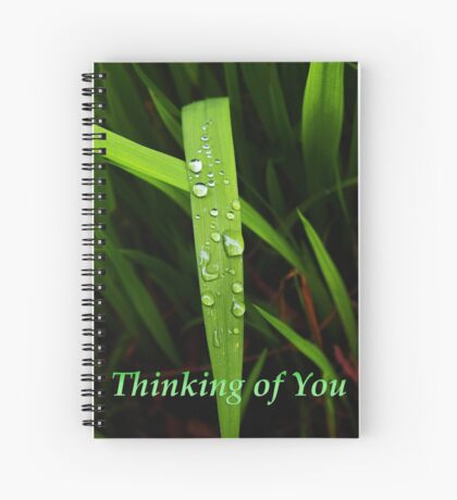 "grass blade ""thinking of you"" card Spiral Notebook"