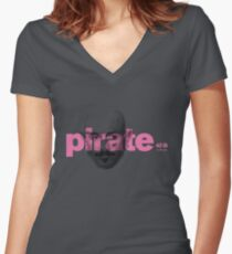 the pirate Women's Fitted V-Neck T-Shirt