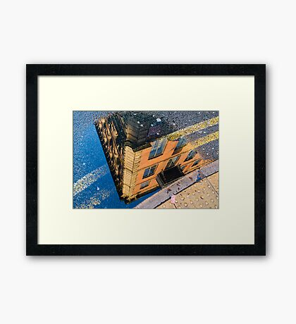 I See The World Through Puddles Framed Print
