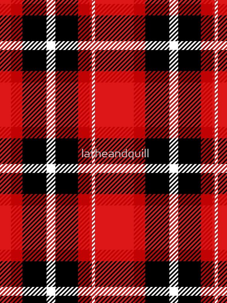 Rot + schwarz kariert von latheandquill