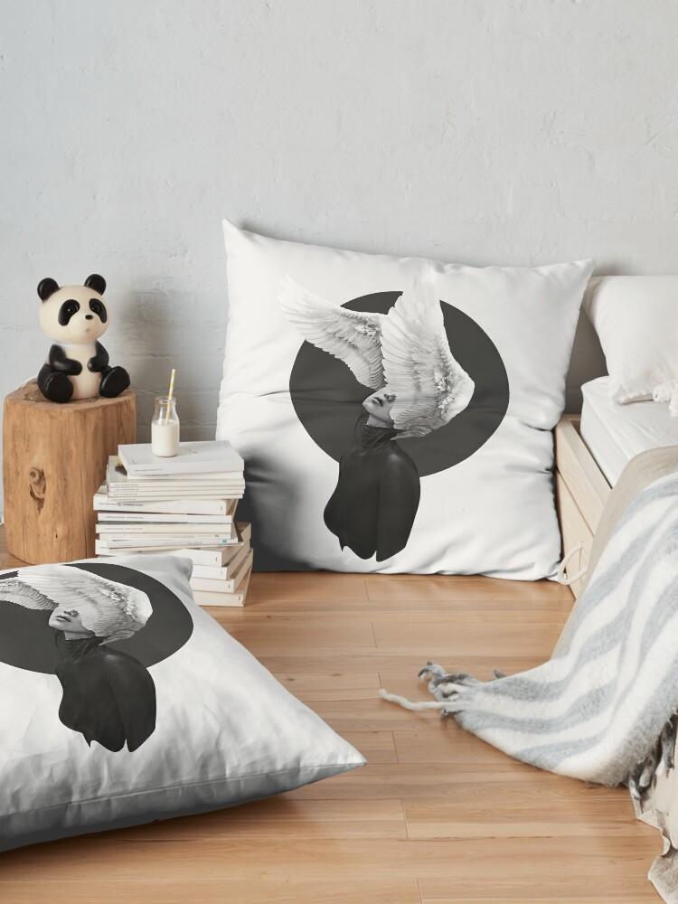 Alternate view of The Swan Floor Pillow