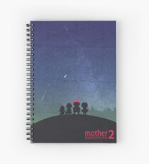 Minimalist Video Games: Mother 2  Spiral Notebook